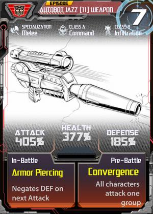 Autobot Jazz 11 Weapon