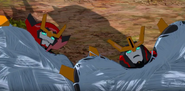 Jetstorm and Slipstream are stuck by Shadow Raker