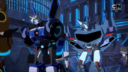 Strongarm and Steeljaw on Cybertron