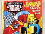 Rescue Bots Jumbo Coloring and Activity Book (Бамблби и Хитвейв)
