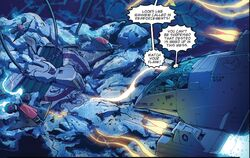 The Deathstone Astrotrain's Body in Atlantic Ocean