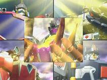 Optimus, Override, Scourge, Evac and Metroplex