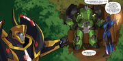 Robots in Disguise issue 01 Bumblebee Finds Bulkhead and Arcee
