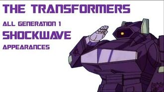 The Transformers Cartoon All Decepticon Shockwave Appearances