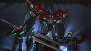 TF RiD Graduation Exercises Optimus Prime Windblade Sideswipe