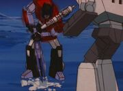 Fire on the Mountain Sideswipe and Wheeljack Dig