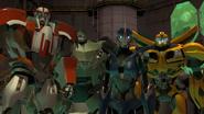 Arcee, Bulkhead, Bumblebee and Ratchet