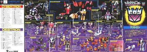 Headmasters Catalogue Decepticons