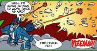 Aerobot comet fists
