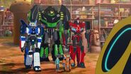Russell, Fixit, Grimlock, Strongarm and Sideswipe