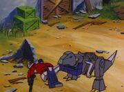War of the Dinobots Grimlock Bites Optimus