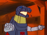 Grimlock attacs Teletron