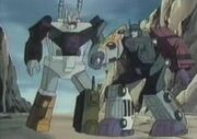 Scremble City Bruticus Helps Menasor