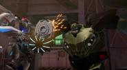Bulkhead attacks the Apex Armor