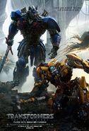 Transformers 5 Poster Optimus Prime Bumblebee