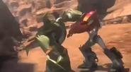 Optimus fights Skyquake