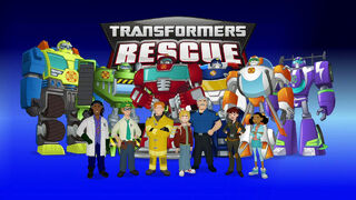 Rescue Bots cartoon title screen