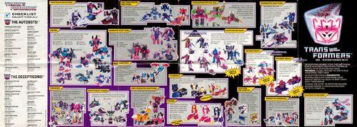 Transformers 1988 USA Catalog Decepticons