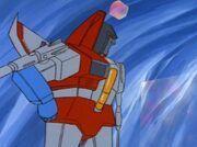 Fire in the Sky Megatron Hits Starscream with a Cube