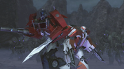 Optimus and Ratchet vs terracons