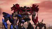 Optimus, Smokescreen and Bumblebee