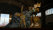 Rid Cover Me screenshot Optimus and Windblade get their friends out