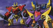 Transformers Go! Samurai and Ninja Teams Together
