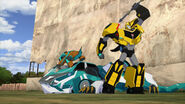 Crazybolt, Slicedice and Bumblebee
