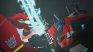Optimus VS Stockade