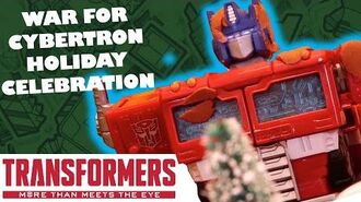 Transformers Holiday Stop Motion - Part 1 War for Cybertron Holiday Celebration