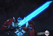 Optimus with sword