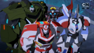 Ratchet, Bulkhead, Jazz, and Windblade (Combiner Force Final)