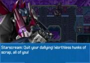 Rise of the Dark Spark 3DS Starscream inside Trypticon