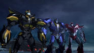 Smokescreen, Knock Out and Bumblebee