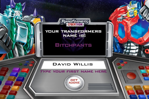 Transformers Name Generator | Teletraan I: The Transformers