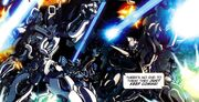 Transformers Movie Prequel Part 1 Arcee and Bumblebee in Tyger Pax