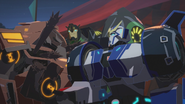 Grimlock, Quillfire and Strongarm