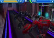Rise of the Dark Spark 3DS Soundwave Battling Cliffjumper