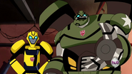 Bulkhead with Bumblebee (Animated)