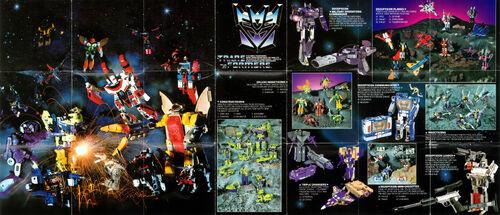 Transformers 1985 USA Catalog Decepticons