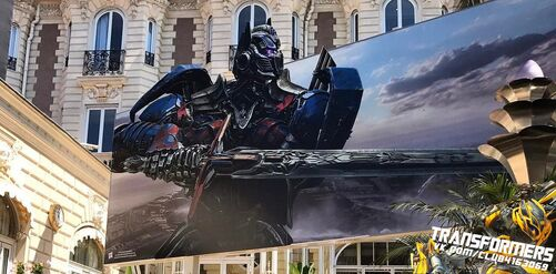 The Last Knight Cannes Optimus Banner