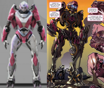 Cybertronian arcee comparison