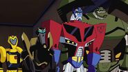Optimus, Bulkhead, Bumblebee and Prowl
