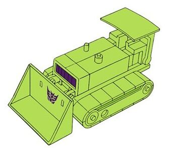 Transformers G1 Bonecrusher bulldozer