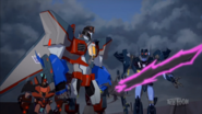 Starscream, Shadelock, Roughedge and Dark Star Saber