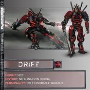 Transformers 5 Drift Concept Art