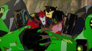 Grimlock and Sideswipe are dirty.