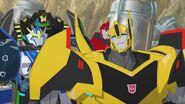 Bumblebee, Grimlock, Strongarm and Sideswipe