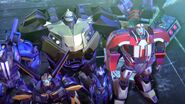 Arcee, Bumblebee, Bulkhead and Ratchet (After Unicron's Defeat)