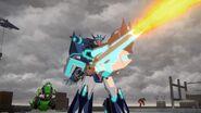 Soundwave attack with Decepticon Hunter
